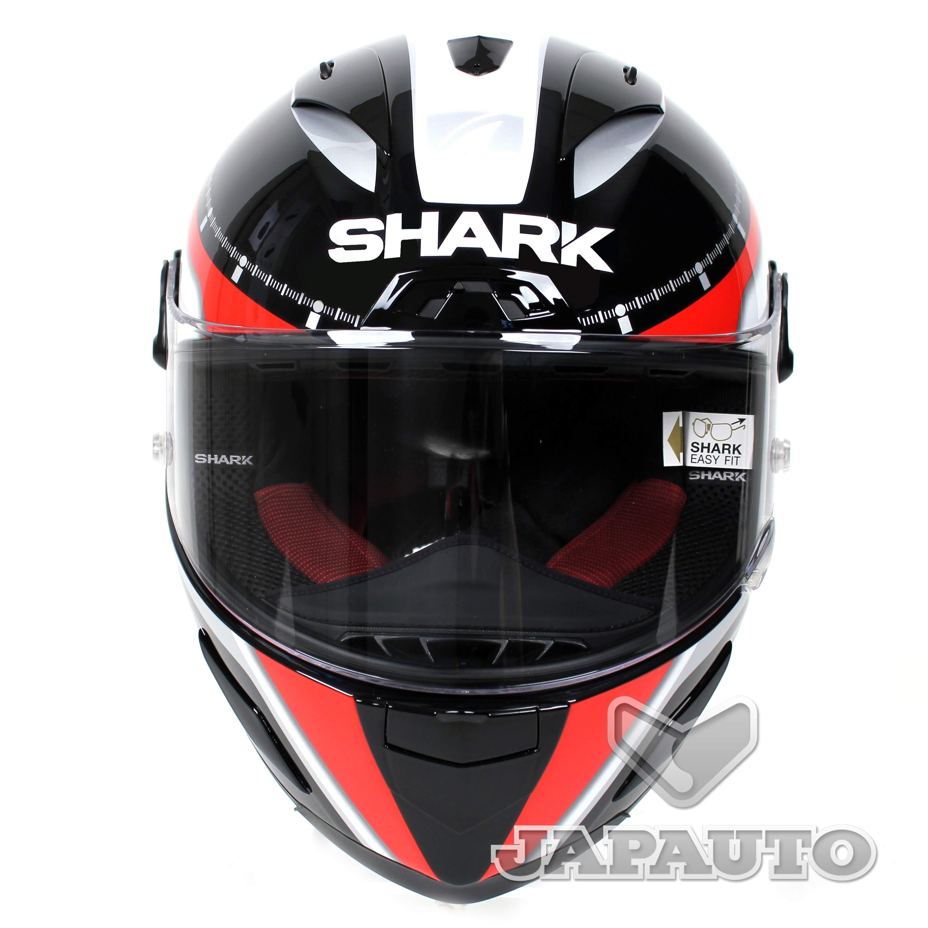 casque int gral shark race r pro carbon noir blanc rouge japauto accessoires equipement. Black Bedroom Furniture Sets. Home Design Ideas