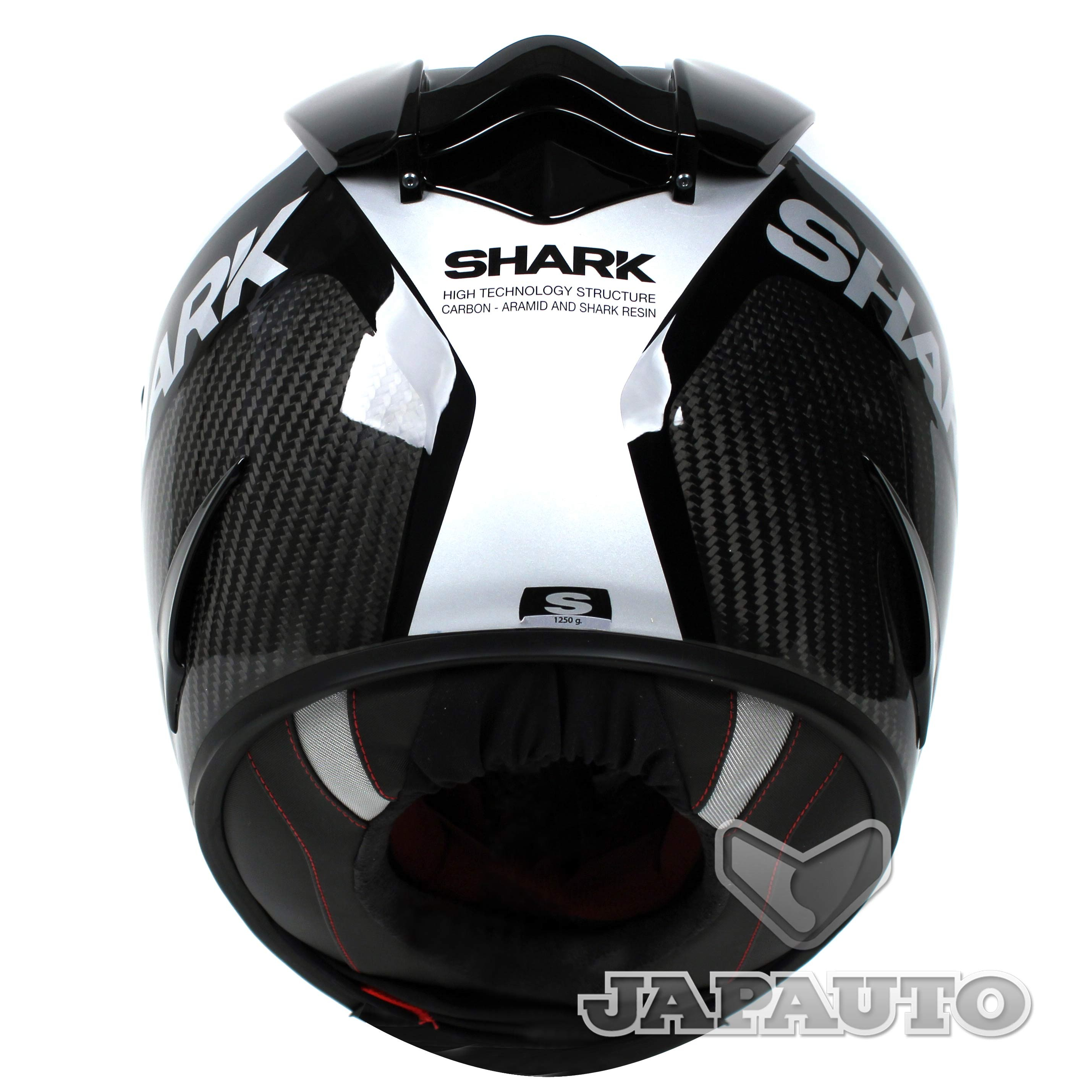 casque int gral shark race r pro carbon noir blanc rouge japauto accessoires equipement. Black Bedroom Furniture Sets. Home Design Ideas