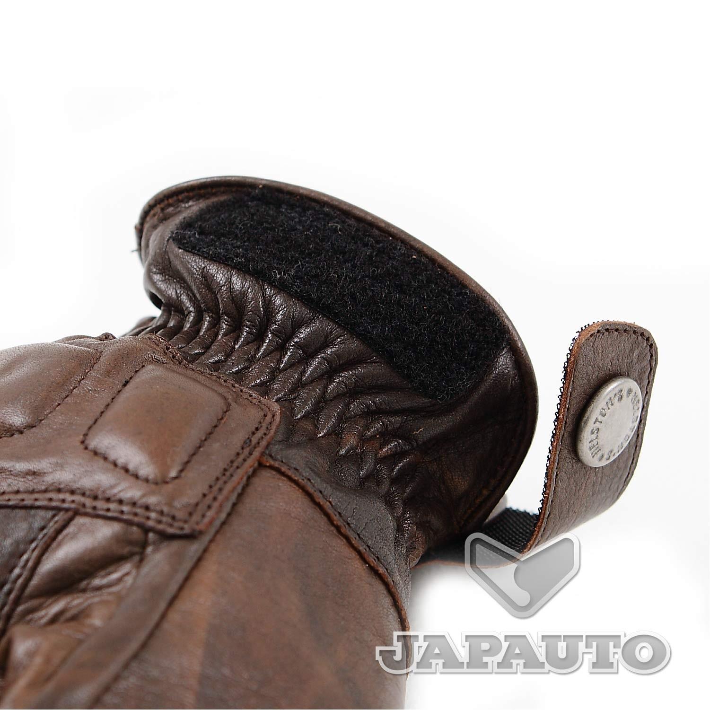 gants cuir helstons vitesse pro pull marron japauto accessoires equipement pilote pour moto. Black Bedroom Furniture Sets. Home Design Ideas