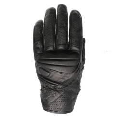 Gants cuir Racer HOLE Noir