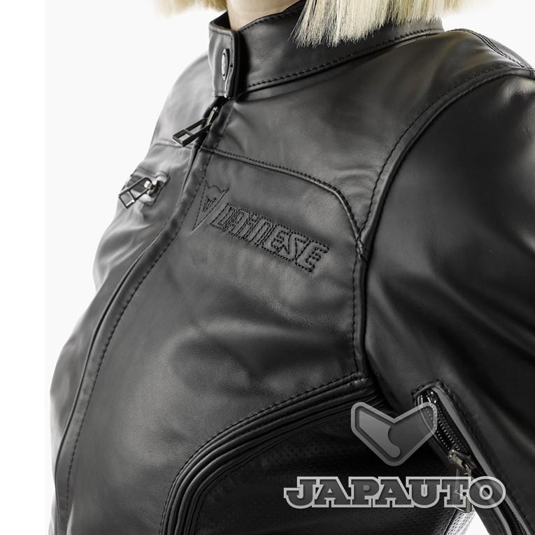 blouson cuir dainese nikita noir femme japauto accessoires equipement pilote pour moto et. Black Bedroom Furniture Sets. Home Design Ideas