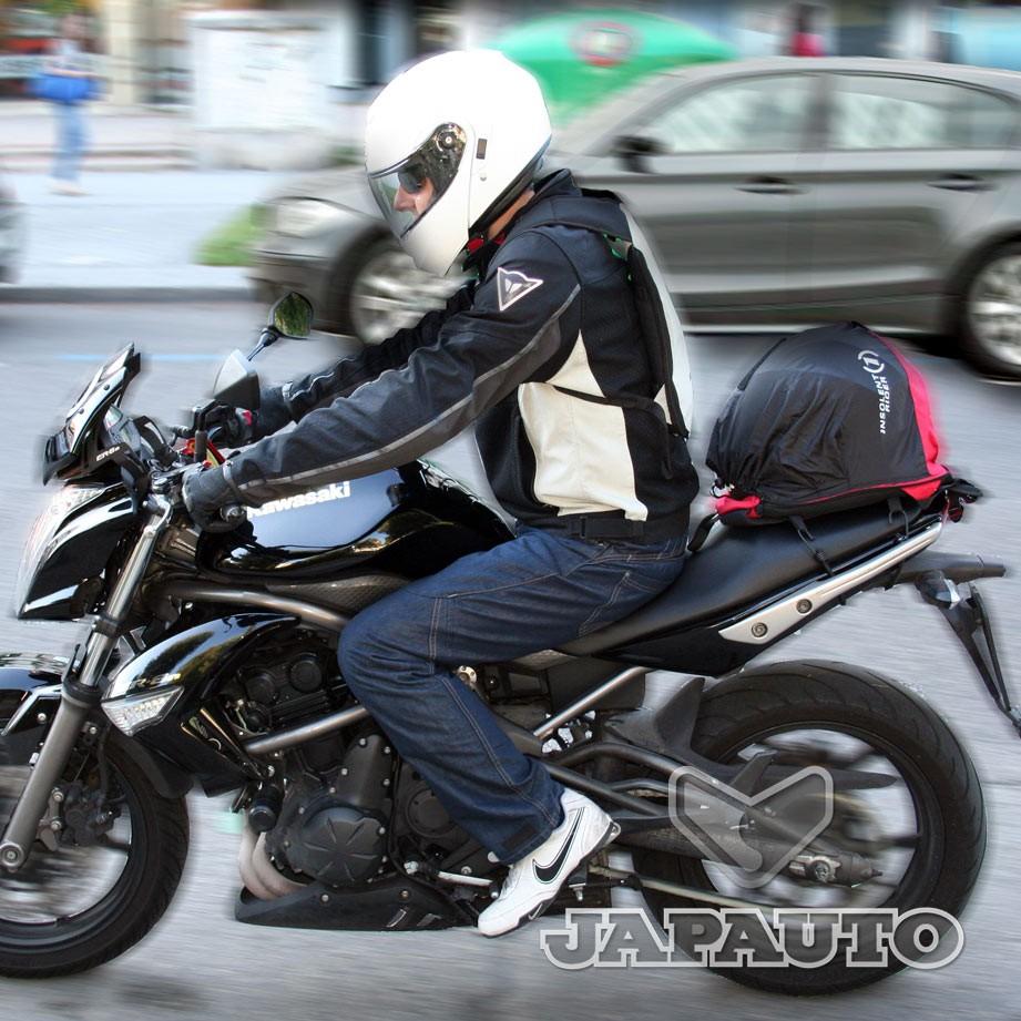 sac porte casque gris insolent rider japauto accessoires equipement pilote pour moto et scooter. Black Bedroom Furniture Sets. Home Design Ideas