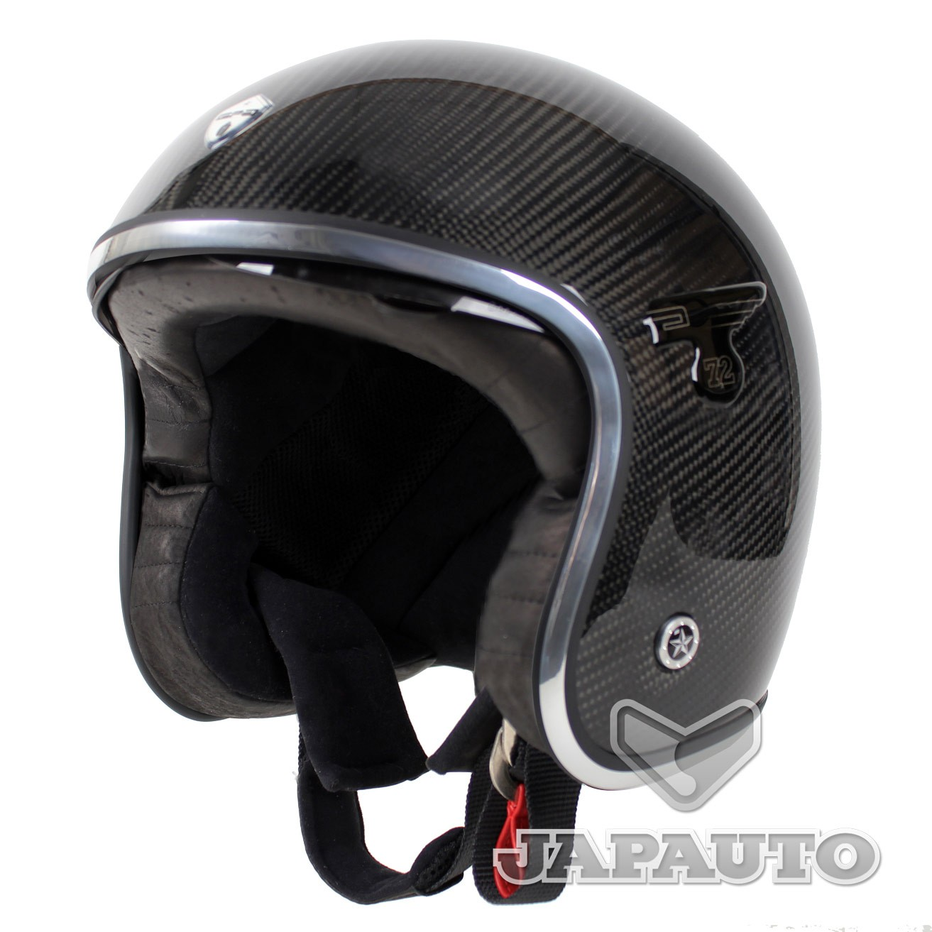casque jet gpa carbon solar carbone japauto accessoires equipement pilote pour moto et scooter. Black Bedroom Furniture Sets. Home Design Ideas