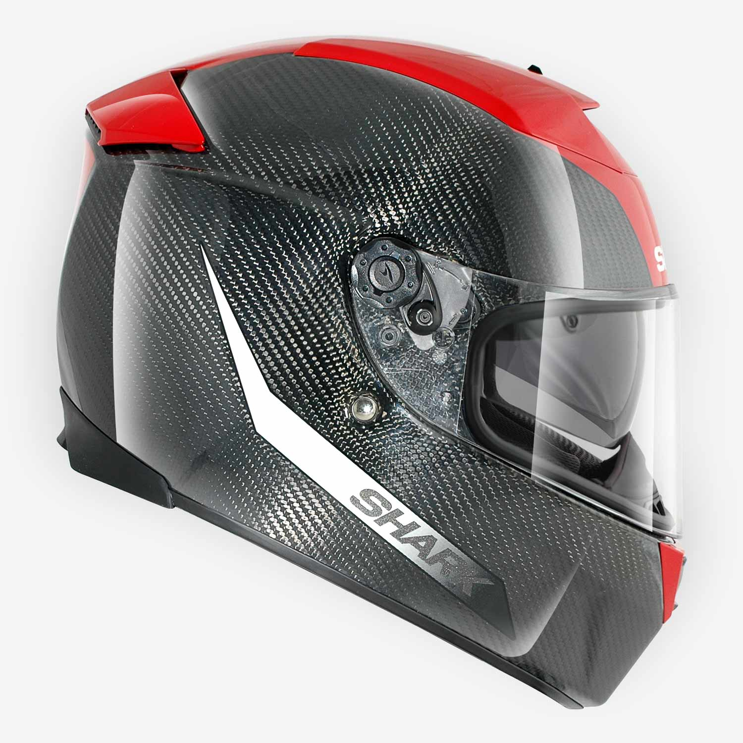 casque moto speed r2 carbon shark noir rouge. Black Bedroom Furniture Sets. Home Design Ideas