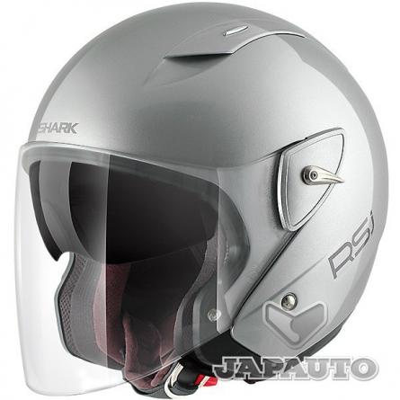 casque jet shark rsj st gris japauto accessoires equipement pilote pour moto et scooter. Black Bedroom Furniture Sets. Home Design Ideas