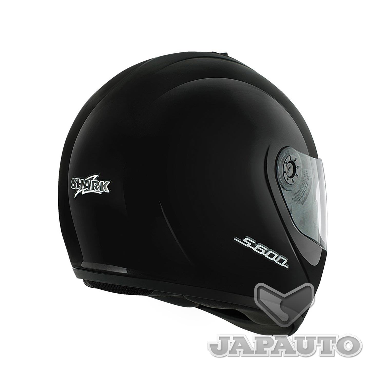 casque int gral shark s600 prime noir japauto accessoires equipement pilote pour moto et scooter. Black Bedroom Furniture Sets. Home Design Ideas