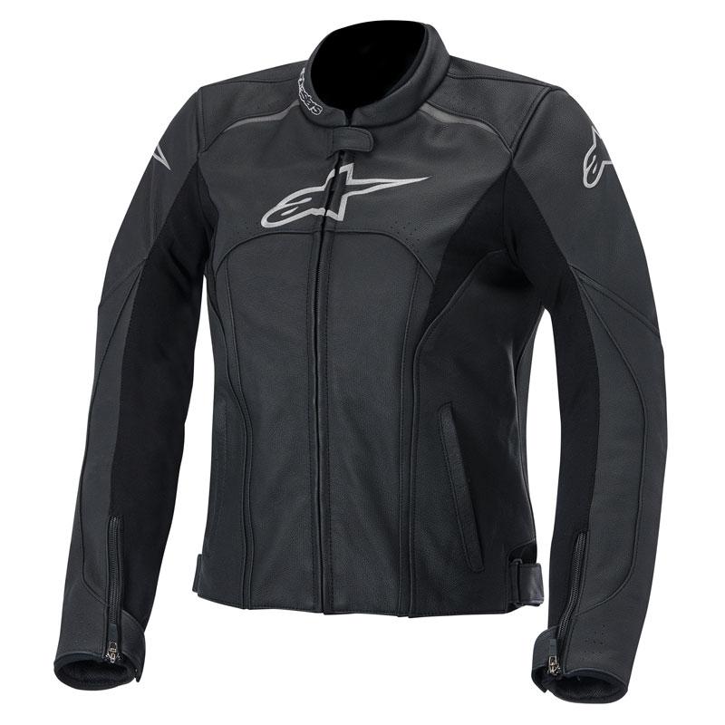 blouson cuir alpinestars stella avant noir blouson et veste cuir moto femme japauto accessoires. Black Bedroom Furniture Sets. Home Design Ideas