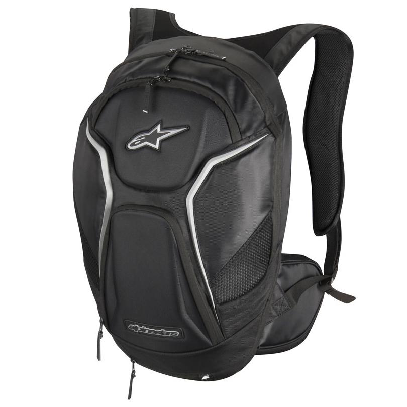 sac dos alpinestars tech aero noir blanc sac dos moto japauto accessoires. Black Bedroom Furniture Sets. Home Design Ideas