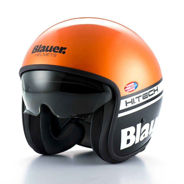 casque blauer pilot 1 1 orange noir casque jet moto scooter japauto accessoires. Black Bedroom Furniture Sets. Home Design Ideas