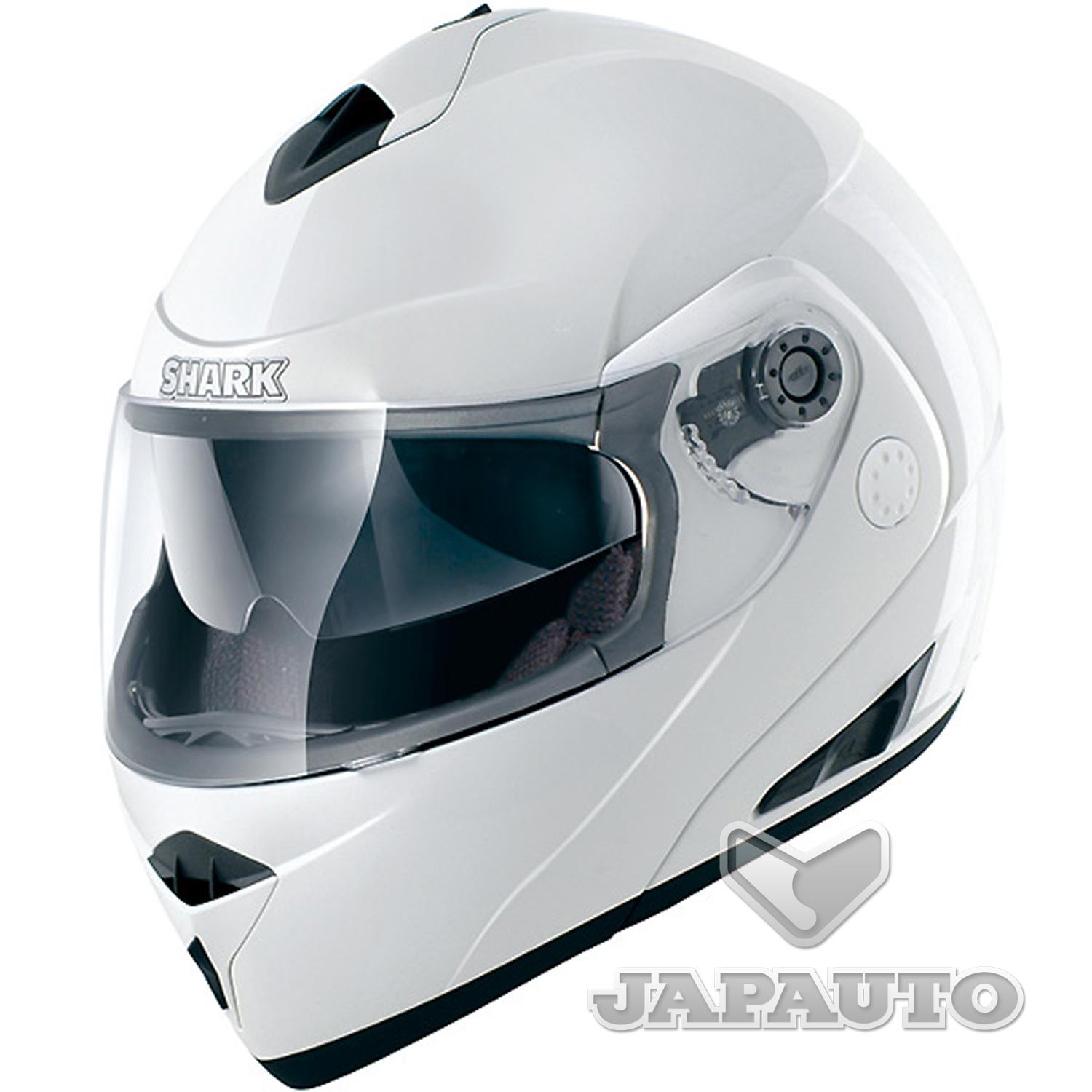 casque shark openline blanc casque modulable moto scooter japauto accessoires. Black Bedroom Furniture Sets. Home Design Ideas