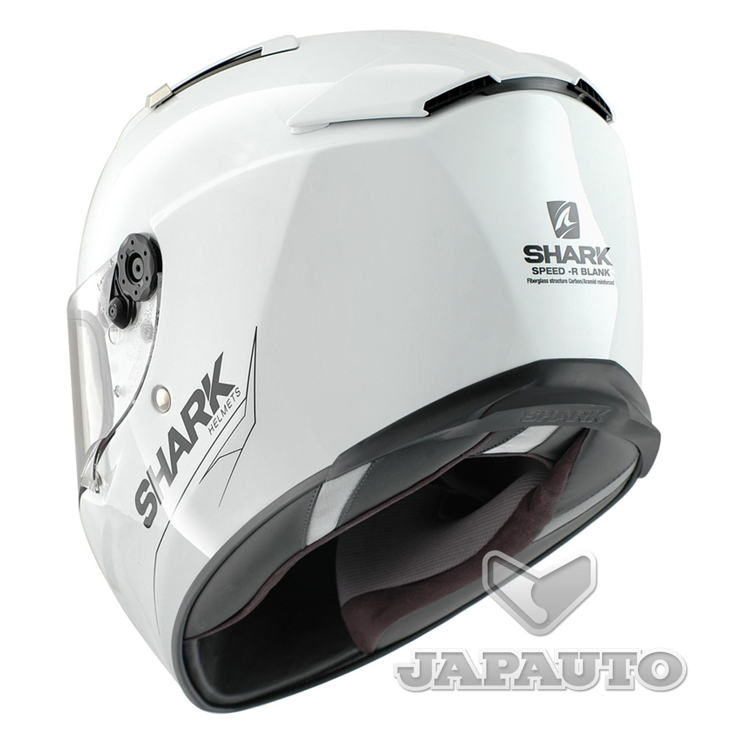 casque int gral shark speed r blanc japauto accessoires equipement pilote pour moto et scooter. Black Bedroom Furniture Sets. Home Design Ideas