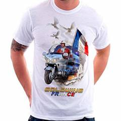 T-shirt Gold Force One FRANCE GOLDWING Blanc