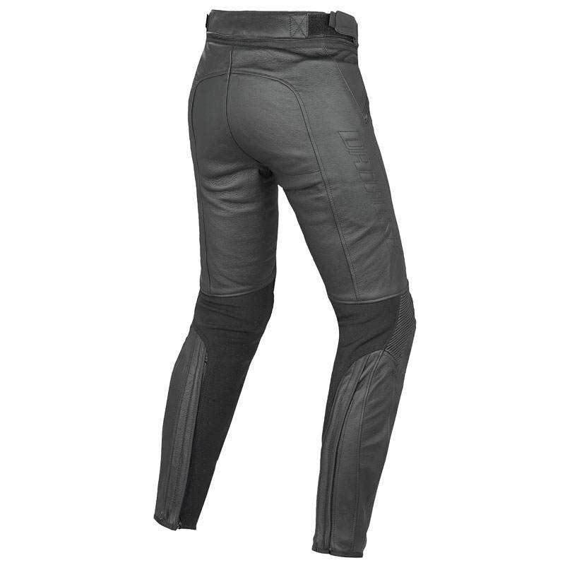 dainese pony c2 pelle lady noir pantalon moto femme japauto. Black Bedroom Furniture Sets. Home Design Ideas
