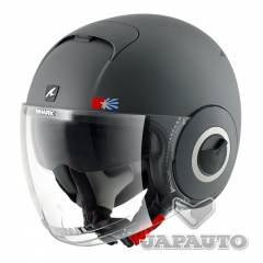 Casque Shark NANO UNITED MAT GRIS/NOIR