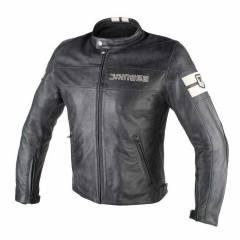 Blouson Dainese HF D1 Leather JKT Black/Ice