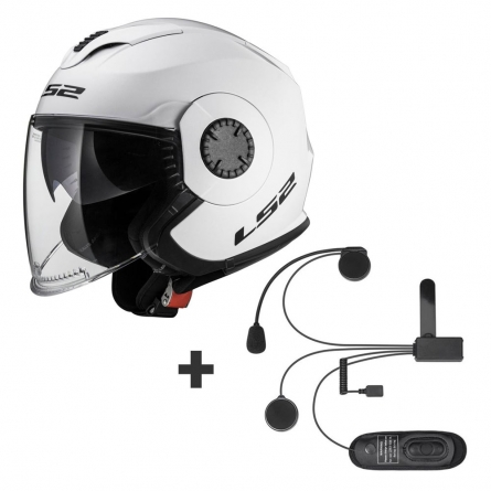 Casque LS2 OF570 Verso Solid + Kit Bluetooth Linkin Ride Pal II
