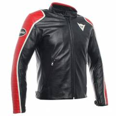 Blouson Dainese Spéciale Leather Jkt Noir/Rouge