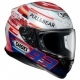Casque Shoei NXR Marquez Power-up TC1 profil droit