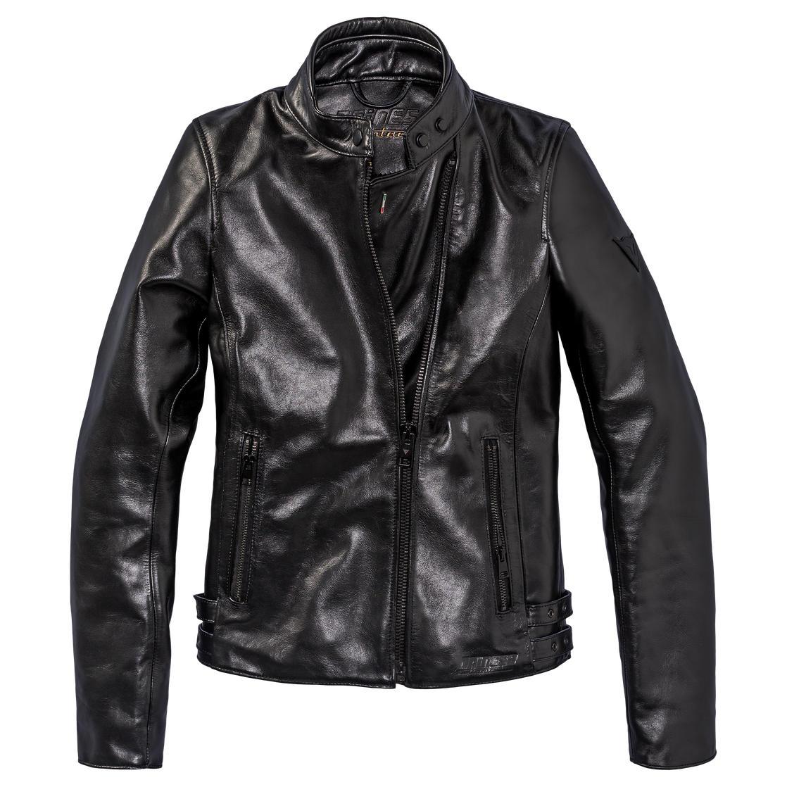 blouson cuir dainese chiodo72 noir lady japauto accessoires equipement pilote pour moto et. Black Bedroom Furniture Sets. Home Design Ideas