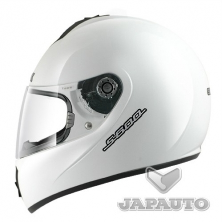 casque int gral shark s600 prime blanc japauto accessoires equipement pilote pour moto et. Black Bedroom Furniture Sets. Home Design Ideas
