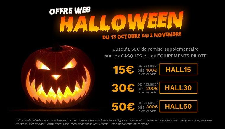 Jusqu'à 50€ de remise pour Halloween