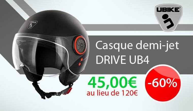 Casque jet Ubike Drive UB4 en promotion