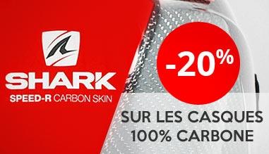 Promotion sur les casques Shark en Carbone