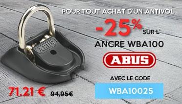 25% de remise su l'ancre WBA100 Abus