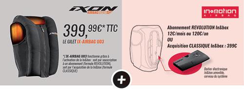 L'airbag IX-Airbag U03 de Ixon nécessite l'activation d'un compte chez le partenaire IN&Motion pour pouvoir fonctionner