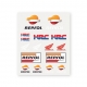 Planche Stickers Repsol Honda Medium