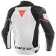 Blouson Cuir Dainese Racing 3 Blanc/Noir/Rouge de dos