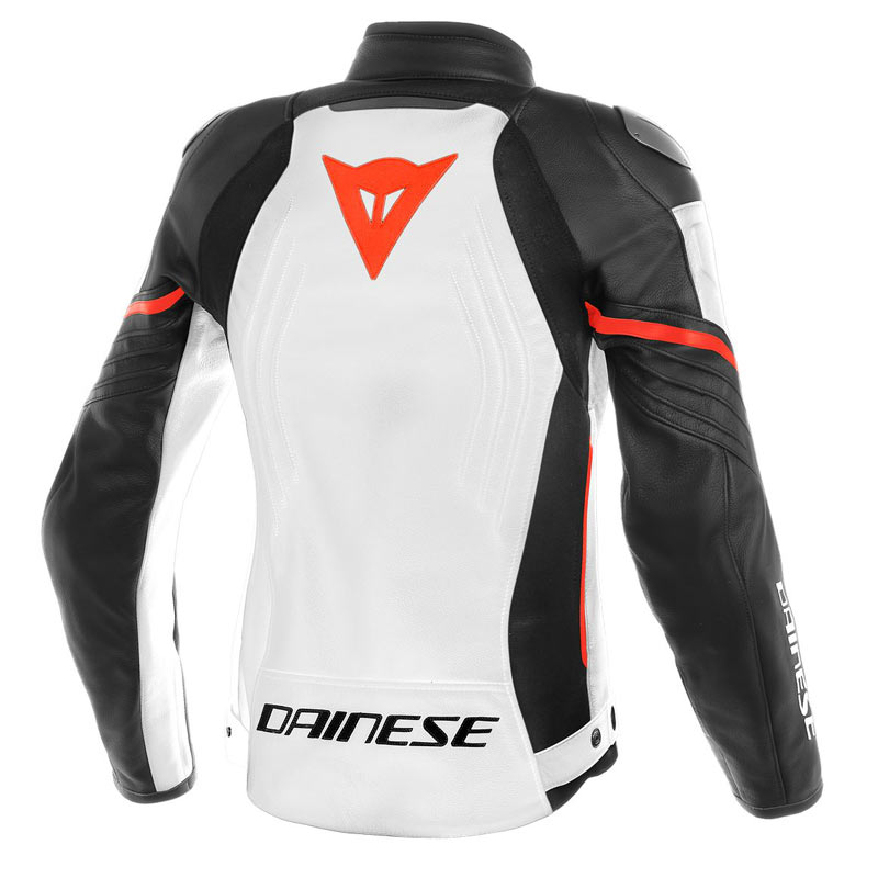 blouson cuir dainese racing 3 lady blanc noir rouge japauto accessoires equipement pilote. Black Bedroom Furniture Sets. Home Design Ideas