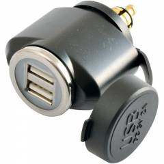 Adaptateur Tecno Globe Mâle DIN Double USB Full Power