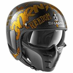 Casque Shark S-DRAK FREESTYLE CUP Carbon/Or - Déco