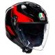 Casque AGV K-5 JET ROKET Noir/Gris/Rouge vue quart de profil