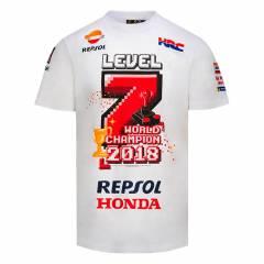T-shirt Marquez World Champion 2018 - Blanc