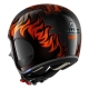 Casque Shark S-DRAK DAGON Orange/Carbon vue de derrière