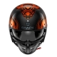 Casque Shark S-DRAK DAGON Orange/Carbon vue de face