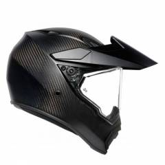 Casque AGV AX9 Solid Matt Carbon - Noir