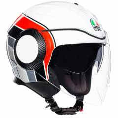 Casque AGV ORBYT BRERA Blanc/Rouge/Gris