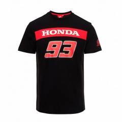 T-shirt Honda Marquez 93 Noir