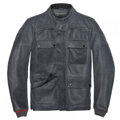Blouson Dainese Settantadue Kidal Leather Jacket - Gris