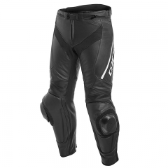 Pantalon Dainese DELTA 3 LEATHER - Noir/Noir/Blanc