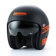 Casque Jet Blauer PILOT 1.1 Noir-Orange Fluo