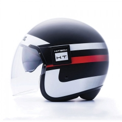 Casque Jet Blauer POD Stripes - Noir/Blanc/Rouge