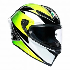 Casque AGV Corsa R Supersport Black/White/Lemon - Noir/Blanc/Vert