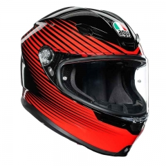 Casque AGV K-6 RUSH Black/Red - Noir/Rouge