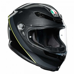 Casque AGV K-6 MINI Gunmetal/Black/Yellow - Gris/Noir/Jaune