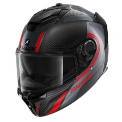 Casque Shark SPARTAN GT CARBON TRACKER - Carbone/Anthracite/Rouge