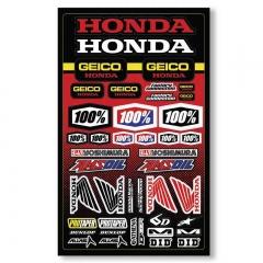 Planche Stickers Geico Honda